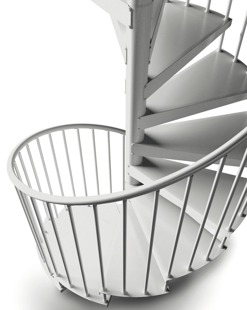 Scale a chiocciola: scegliere dimensioni e numero gradini